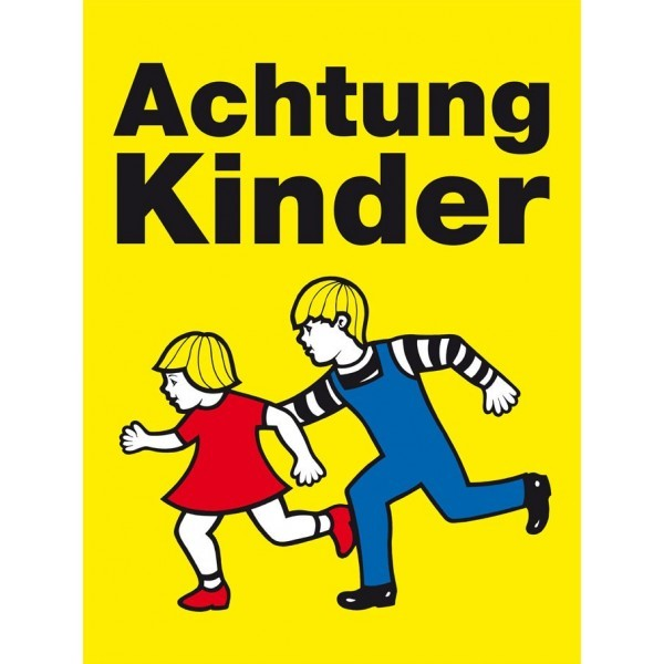 achtung kinder warnschild kommunalbedarf at. Black Bedroom Furniture Sets. Home Design Ideas