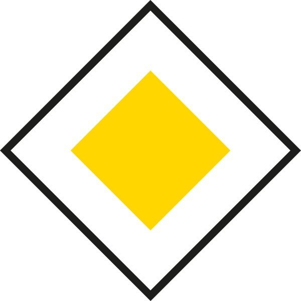 §52/25a Vorrangstraße | flaches Verkehrszeichen