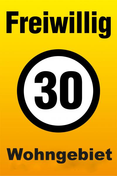 Freiwillig 30 Tafel - Wohngebiet