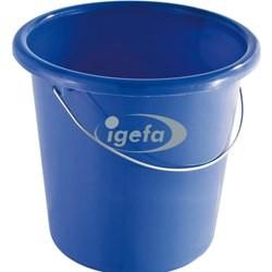 Plastikeimer rund 10l blau