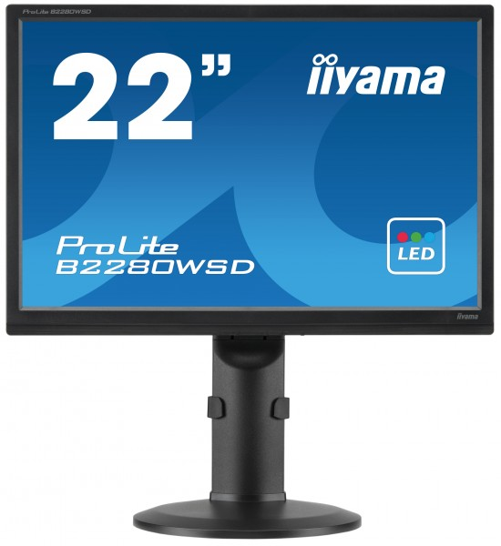 iiyama ProLite B2280WSD-B1 22Zoll TN Matt Schwarz Computerbildschirm LED display