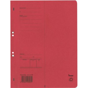 Ösenhefter, Karton (RC), 1/1 Vorderdeckel, A4, rot