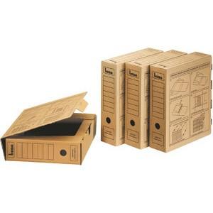 Archivbox, A4, 8 x 33 x 29 cm, braun
