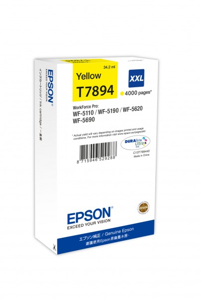 WF-5690 Tintenpatrone XXL Yellow 4k