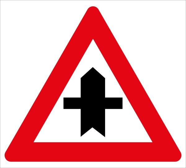 Verkehrstafel - §50/4 Kreuzung mit Straße ohne Vorrang ...