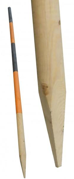 Schneestangen aus Fichtenholz. L: 2500mm. Ø 50mm